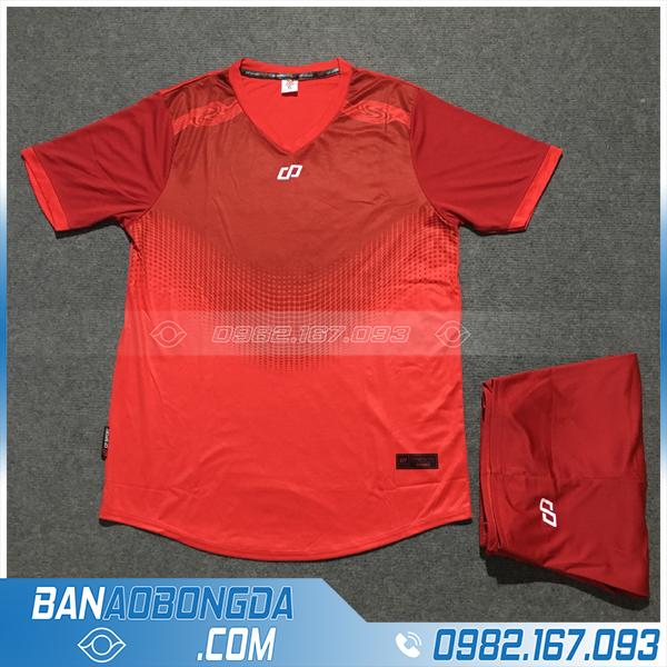 Áo Đấu Không Logo CP HZDD01 Mony Màu Đỏ