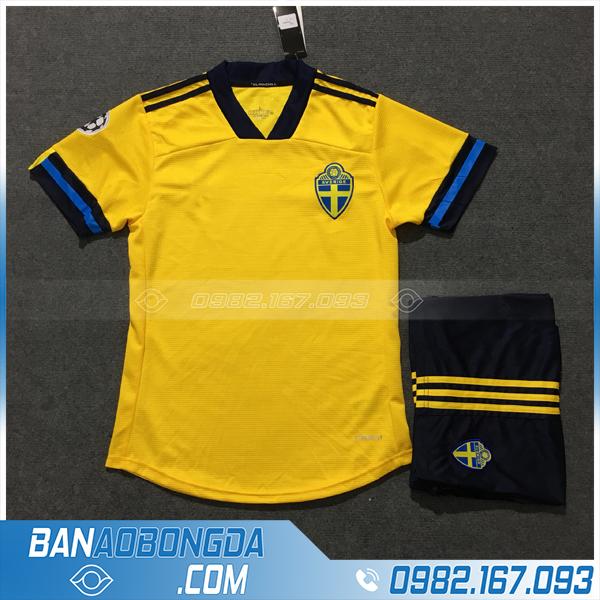 Áo Đấu Đội Tuyển Thụy Điển 2020 Sân Nhà Màu Vàng