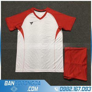 Áo Đấu Không Logo Fegan HZTA01 Author Màu Trắng Đỏ