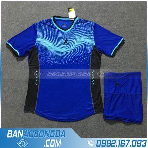 Áo bóng đá không logo big size màu xanh dương cao cấp