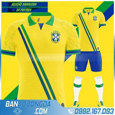 áo bóng đá Brazil tự thiết kế đẹp
