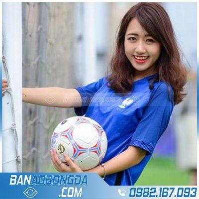 Áo bóng đá nữ màu xanh dương