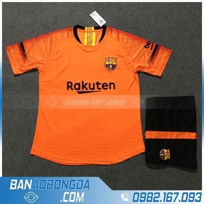 Áo đá bóng câu lạc bộ Barca 2020 màu cam đẹp