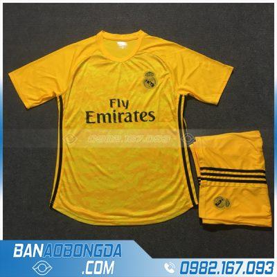 Áo đấu câu lạc bộ Real Madrid màu vàng cao cấp