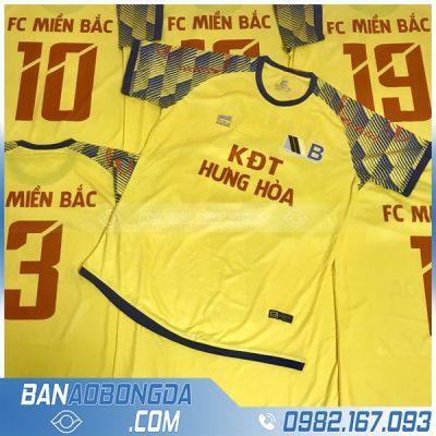 Áo bóng đá màu vàng cao cấp