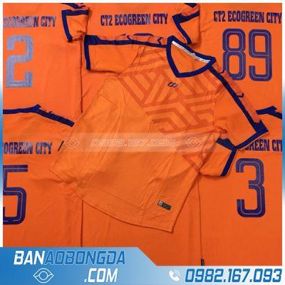 áo bóng đá màu da cam đẹp