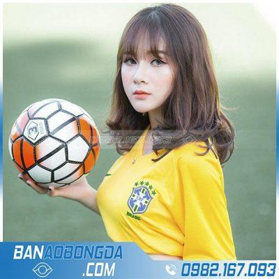 áo bóng đá nữ màu vàng đẹp
