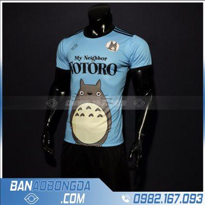 Áo bóng đá totoro màu xanh da trời