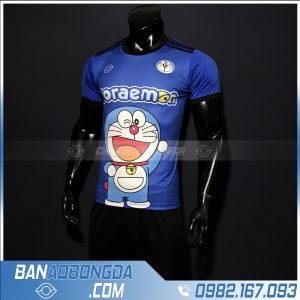 áo đấu bóng đá dễ thương doremon dễ thương màu xanh nước biển