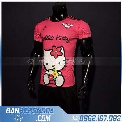 quần áo bóng đá Hello Kitty màu hồng dễ thương đẹp mắt