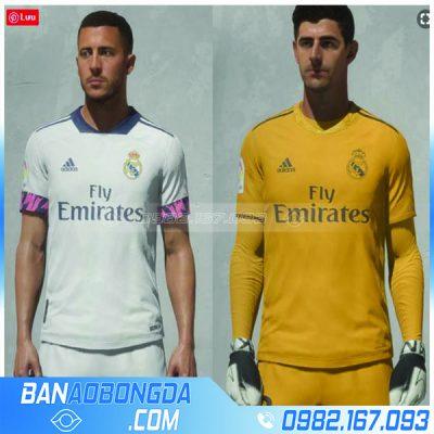 Áo bóng đá real madrid thủ môn màu vàng