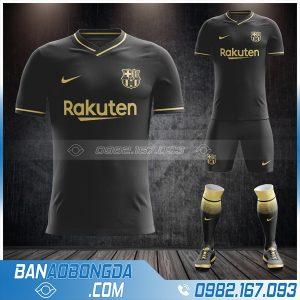Áo Barca 2021 sân khách màu đen