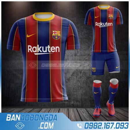 áo Barca 2021 sân nhà chính thức