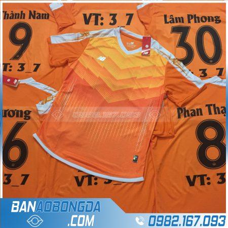 Áo đấu bóng đá phủi màu cam