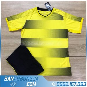 Áo bóng đá Dortmund không logo cao cấp màu vàng