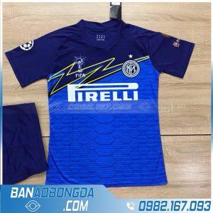 áo bóng đá Inter Milan tự chế màu xanh dương đẹp