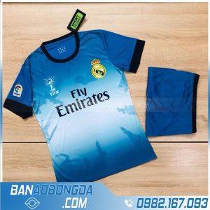 áo thể thao real madrid training màu xanh dương