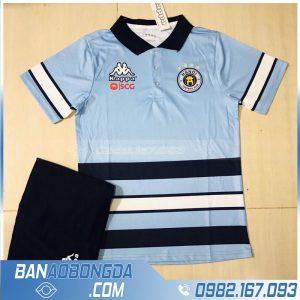 áo di chuyển của Hà Nội FC màu xanh da trời