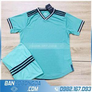 áo thể thao real madrid không logo màu xanh ngọc