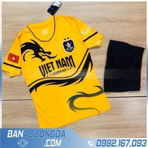 Áo bóng đá Việt Nam rồng màu vàng đẹp