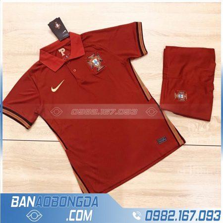 áo bóng đá đội tuyển Bồ Đào Nha 2020 training 1 màu đỏ