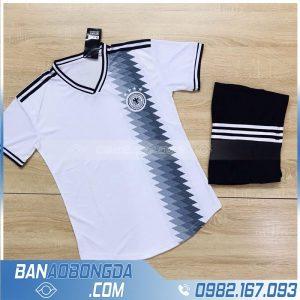 áo bóng đá đội tuyển Đức 2020 màu trắng thiết kế