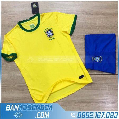 Áo bóng đá đội tuyển Brazil 2020 training màu vàng mới và đẹp