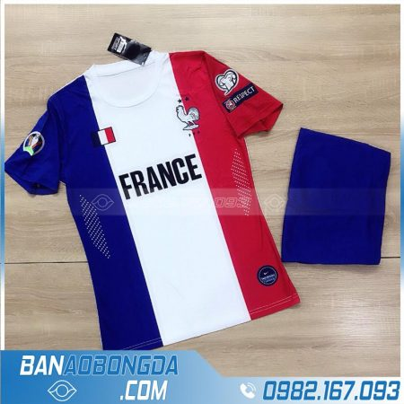 áo bóng đá đội tuyển Pháp training 1 mới và đẹp