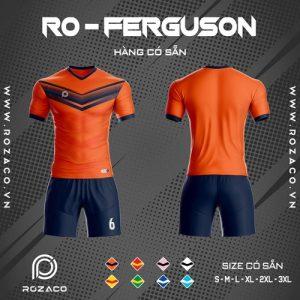 áo bóng đá không logo ferguson màu cam đẹp