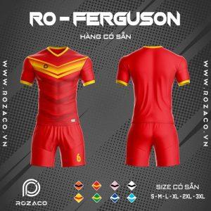 áo bóng đá không logo ro ferguson chế màu đỏ
