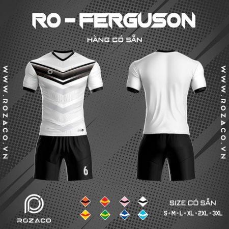 áo bóng đá không logo ro - ferguson màu trắng