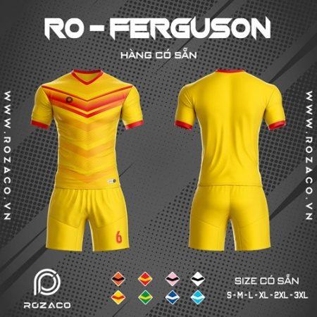 áo bóng đá không logo ro - ferguson màu vàng