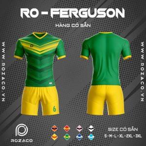 áo bóng đá không logo ro ferguson màu xanh lá