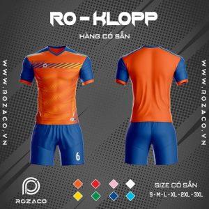 áo bóng đá không logo màu cam ro - klopp đẹp