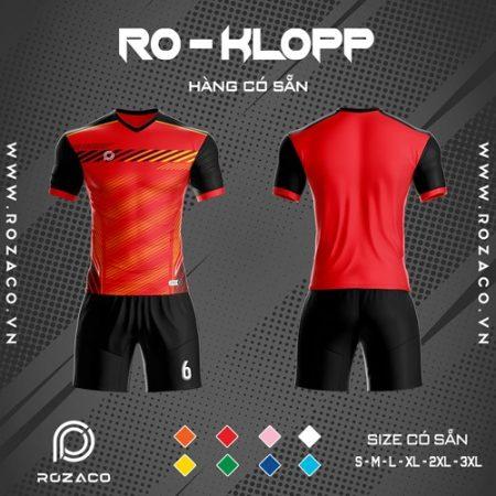 áo bóng đá k logo ro klopp màu đỏ đẹp mắt