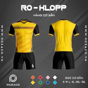 áo bóng đá không logo Ro - klopp tự thiết kế màu vàng