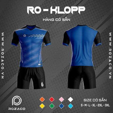 áo đấu không logo màu xanh dương Ro - Klopp