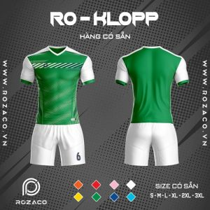 áo bóng đá không logo màu xanh lá rẻ đẹp