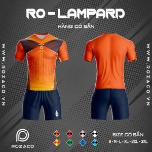 Áo bóng đá không logo ro - lampard màu cam