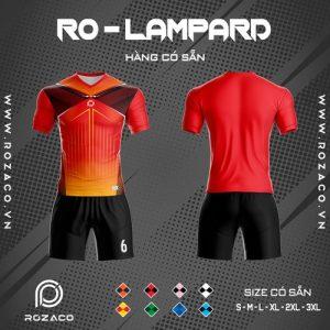 áo bóng đá không logo ro - lampard màu đỏ