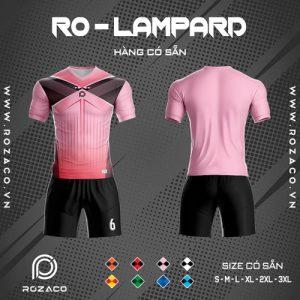 Áo đấu bóng đá không logo ro - lampard màu hồng đẹp và mới