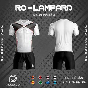 Áo bóng đá không logo ro - lampard màu trắng đẹp