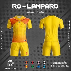 áo bóng đá không logo ro - lampard màu vàng rẻ đẹp