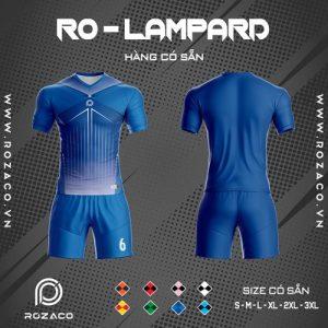 áo bóng đá không logo ro - lampard màu xanh bích đẹp