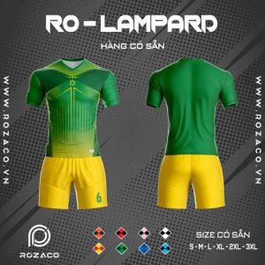 Áo bóng đá không logo thiết kế ro - lampard màu xanh lá