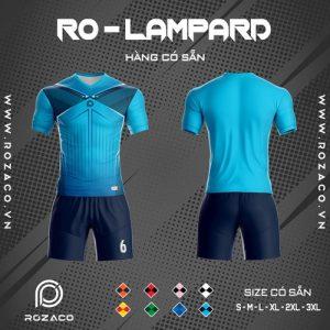 áo bóng đá không logo ro - lampard màu xanh da trời đẹp