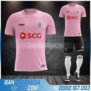 áo Hà Nội Fc 2021 sân khách màu hồng