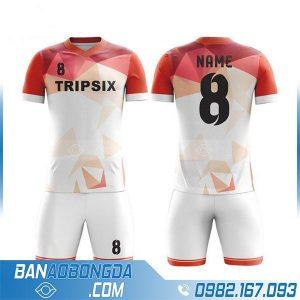 áo bóng đá tự thiết kế HZ 201 màu trắng