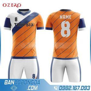 áo bóng đá không logo tự chế màu cam HZ 206