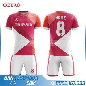 áo bóng đá may theo yêu câu hz 207 màu đỏ mới và đẹp